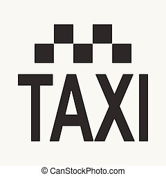 Flat in black and white mobile application taxi