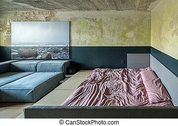 Flat in loft style