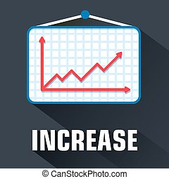 flat increase background concept. Vector illustration design.
