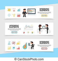 Flat Infographic Horizontal Banners