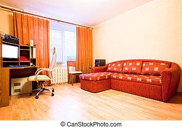 flat, interieur