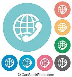 Flat international call icons