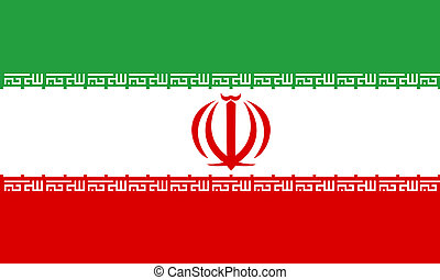 flat iranian flag