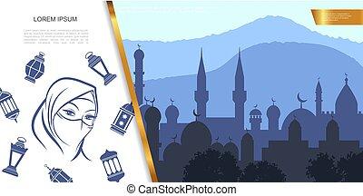 Flat Islamic Culture Concept