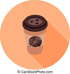flat isometric icon with a coffee Cup