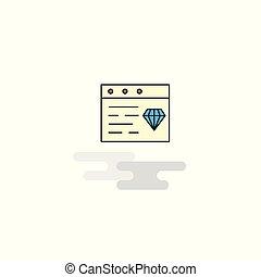 Flat jewellery on website Icon. Vector