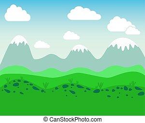 Flat landscape - vector illustration.