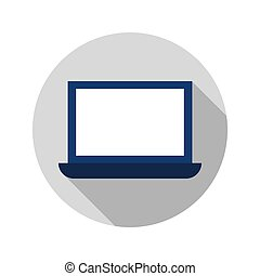 Flat Laptop Circle Icon