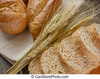 Flat lay breads and rye