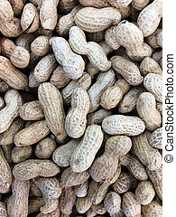 Groundnuts abstract background and texture - Flat lay view ...