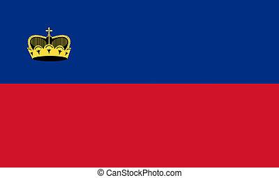 flat liechtenstein flag