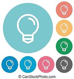 Flat light bulb icons