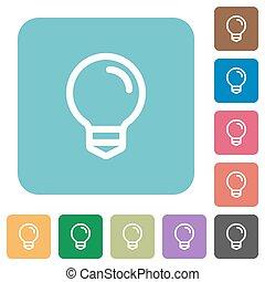 Flat light bulb symbol icons