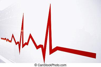 Flat line alert on heart