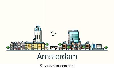 Flat line Amsterdam banner
