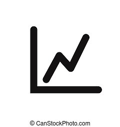 Flat line-chart vector icon on a white background