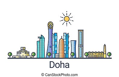 Flat line Doha banner