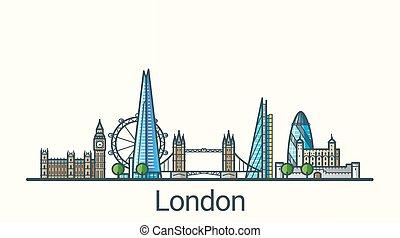Flat line London banner