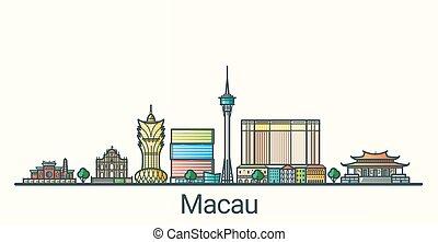 Flat line Macau banner