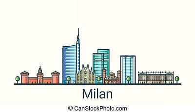 Flat line Milan banner