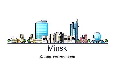 Flat line Minsk banner