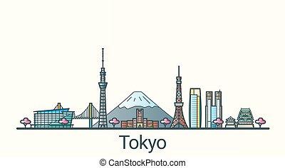 Flat line Tokyo banner