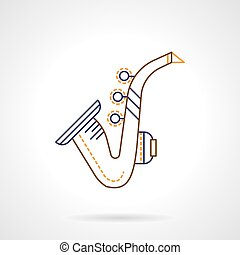 Flat line vector icon for sax