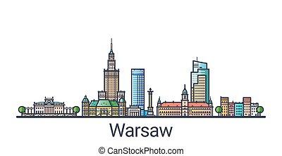 Flat line Warsaw banner