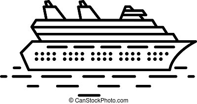 Flat linear cruise liner illustration