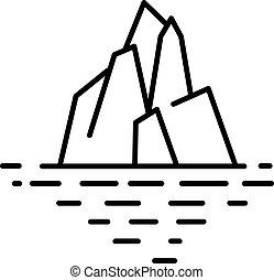 Flat linear iceberg illustration