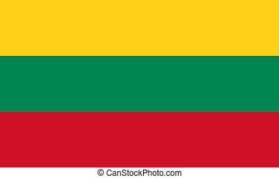flat lithuanian flag