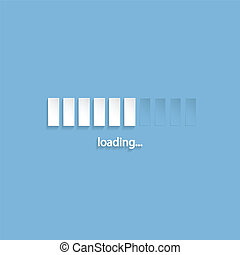 Flat loading screen design - Flat loading screen with light...