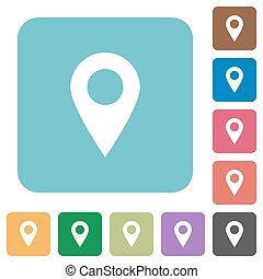 Flat location pin icons