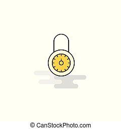 Flat Locked Icon. Vector