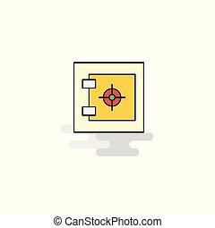 Flat Locker Icon. Vector