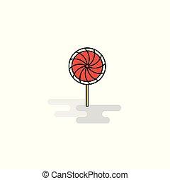 Flat Lollypop Icon. Vector