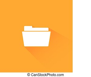 Flat long shadow folder icon