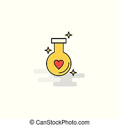 Flat Love drink Icon. Vector
