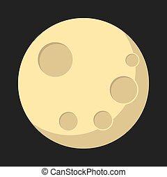 Flat Lunar phases
