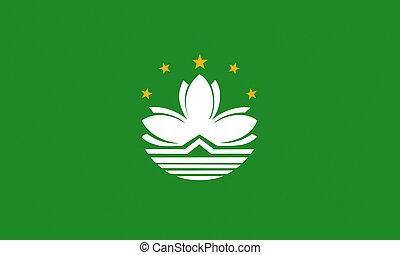 flat macao flag