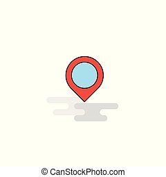 Flat Map navigation Icon. Vector