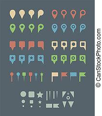 Flat Map Pins.