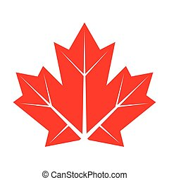 flat maple leaf