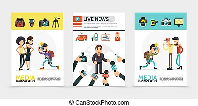 Flat Mass Media Posters - Flat mass media posters with...
