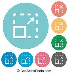 Flat maximize element icons - Flat maximize element icon set...