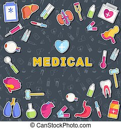 flat medical equipment set icons concept background. vector illustration design