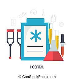 flat medical laboratory icons illustration infographic concept. Vector background design. Template for website and mobile appliance.