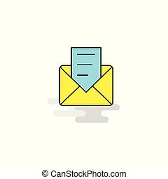 Flat Message Icon. Vector