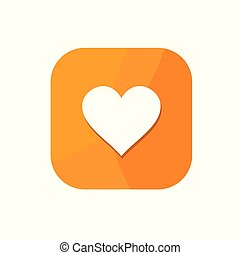 Flat minimalist Hearts App icon in rounded square seamless gradient background