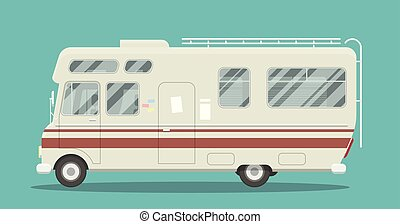 Flat mobile home - Cool illustration of a brand less camper...